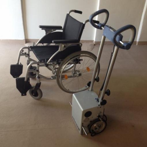 Устройство за изкачване на стълби + инвалидна количка